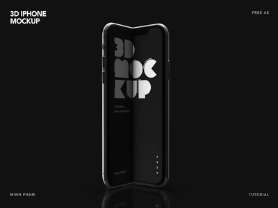 3D iPhone Mockup - Free AE source typo typography minh pham 3d animation motion design app mobile animation vietnam 3d