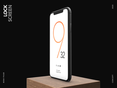 Lock screen concept typography home os android minh pham product product design 3d vietnam graphic app interaction mobile ux motion animation ui