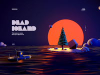 Dead Island | Visual Concept low poly ocean water abstract sun island boat minh pham graphic vietnam ui web illustration 3d motion animation