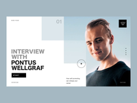 Interview With Pontus Wellgraf | How Self-Promoting Can Change Y product design motion landing page web interview animation vietnam designer parallax 3d interaction ux ui web design