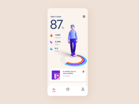 Health Tracking App Concept minh pham app ios character vietnam interaction motion animation interaction design 3d animation 3d illustration product design mobile ui design ux ui