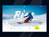 Landing page concept with parallax effect scroll sport skii interaction parallax landing page web design web 3d ux motion animation ui vietnam
