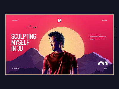 Comic style landing page concept product design graphic minh pham vietnam character web landing page illustration 3d interaction ux motion animation ui