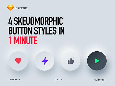 Making 4 skeuomorphic button styles in 1 minute uiux app button design tutorial freebie sketch button design ui vietnam
