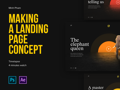 Landing page concept with zoom-in transition photoshop zoom scroll landing page parallax enviroment nature animal interaction web design web ux motion animation ui