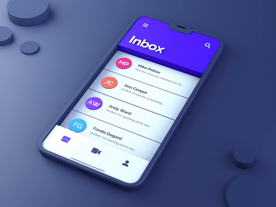 Animated 3D UI - with Freebies vietnam swipe header list email flip ios mockup iphone 12 cinema 4d product design 3d interaction motion animation ui