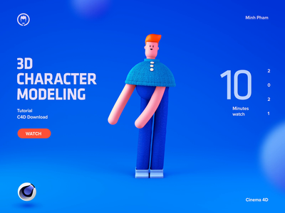 3D Character Dancing tutorial cinema 4d landing page ui motion illustration 3d animation