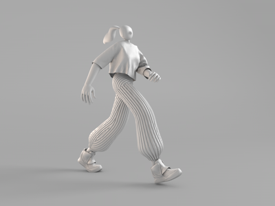 Animated character with dynamic cloth graphic vietnam ui landing page web 3d motion illustration animation