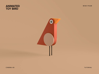 Animated 3D Toy Bird character motion 3d illustration animation