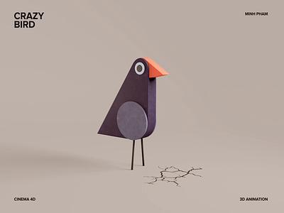 3D Crazy bird animation vietnam character design motion illustration 3d animation
