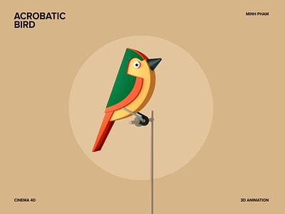 3D Bird Animation C4D Tutorial motion design graphic design vietnam motion illustration 3d animation