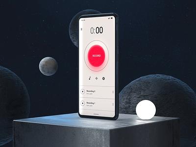 Sound Recorder App Concept vietnam product design app wave audio sound mobile ux 3d interaction motion ui animation