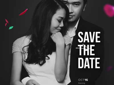 My Super Sweet Wedding! visual concept couple layout flowers typo poster graphic vietnam wedding