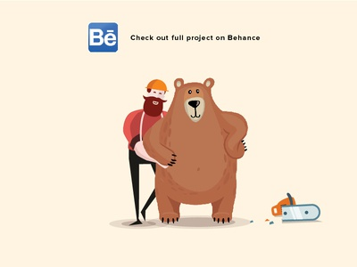 Save Green full project vietnam illustration ui web non profit tree animal enviroment bear