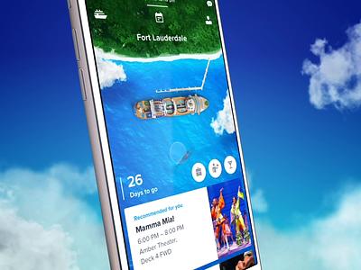 Royal Caribbean App - Navigation & Explore whale ship ocean nature travel ios illustration app 3d interaction mobile ux motion animation ui