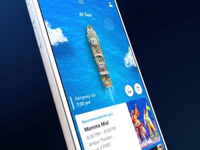 Royal Caribbean App - Dead Ends vacation holiday sea ocean ship mobile ios illustration app 3d interaction motion ux animation ui