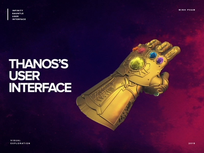 What if The Infinity Gauntlet has an Interface infinity futuristic retro concept vietnam animation motion interaction avengers thanos ux ui marvel