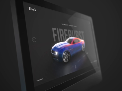 Animated Material mapping vietnam luxury car hero banner interaction animation web landing page 3d