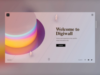 Digital Arts Exhibition - Landing Page