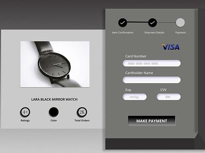 CREDIT CARD CHECKOUT design ux