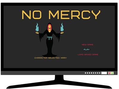 NO MERCY logo graphic design animation