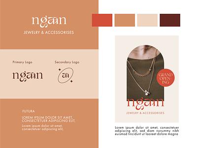 Ngaan J&A branding vector brand design brand identity icon branding logo design