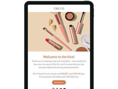 Beauty Email Sample ui design email marketing