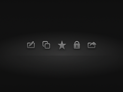Icons ios icon icons edit copy favorite star lock private share send to fireworks