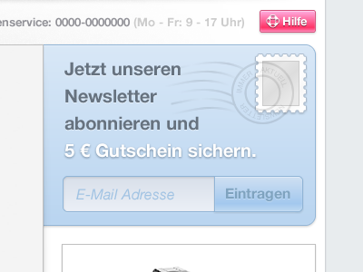 Newsletter ecommerce shop newsletter stamp button ui fireworks