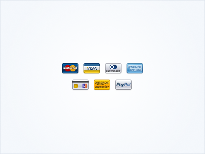 Payment Icons payment creditcard mastercard visacard visa diners club american express ec amazon payments paypal fireworks