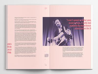 Finding Romance In Defeat - Interior Spread design publication design book magazine spread typography