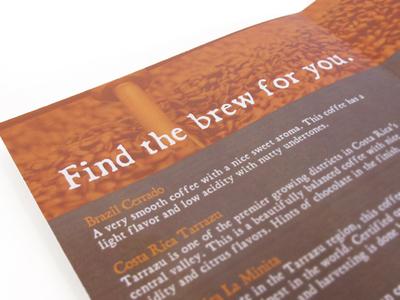 Coffee Descriptions Brochure