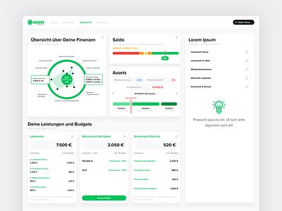 Kiwi Financial Living product design design web ux ui