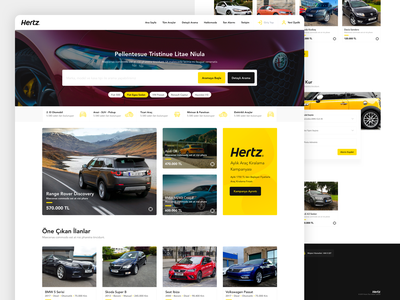 Hertz Used Car product design design web ui ux