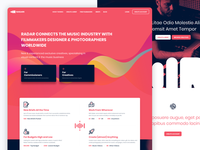 Radar Music logo product design design web ui ux