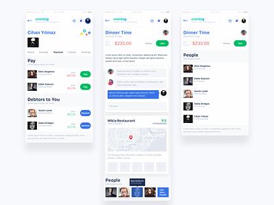 eventog product design aplication ui app ux