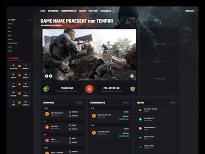 Game Streaming ui redesign product design design web
