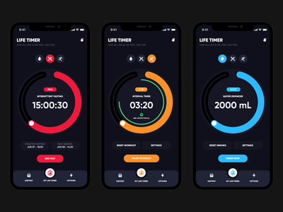 Life Timer mobil product design aplication ios design app ux ui