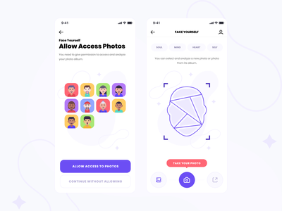 Face Yourself product design mobil aplication ios app ux ui