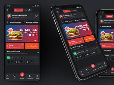 Yemek Sepeti Dark Mode ios design app ui