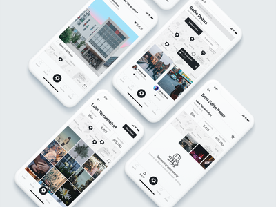 Selfie Points product design design app ux ui