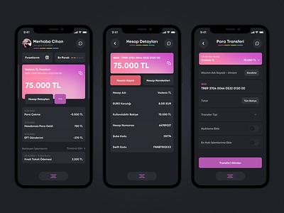 Enpara Dark Mode redesign design app ui