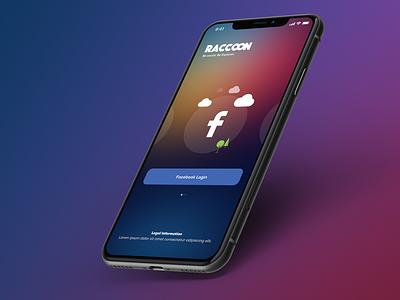 Raccoon design app ui