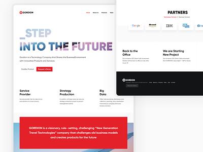 Gordion Technology web design design ui