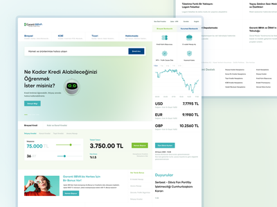 Garanti Bankasi webdesign redesign design ui