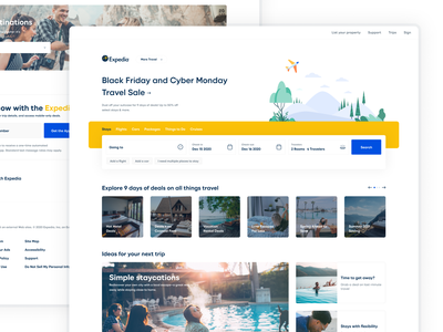 Expedia redesign design ui