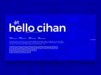 Hello Cihan
