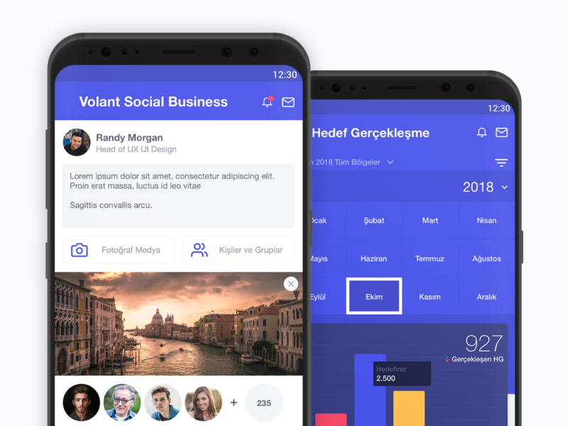Social Business android app ux ui design uidesign