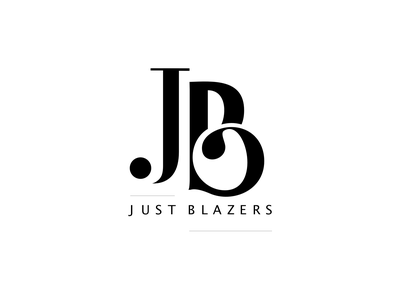 Just Blazers Logo typography alphabet classy b j fashion logo