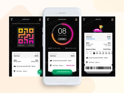 Kairo Parking App analytics timer parking car parking app mobile app
